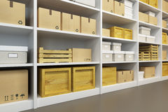 Warehouse with goods Royalty Free Stock Photography