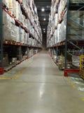 Warehouse of goods storage stock image