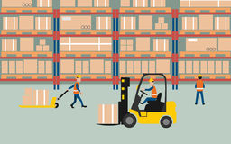 Warehouse. Graphic of working in warehouse Royalty Free Stock Photos