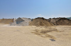 Warehouse for gravel and sand Royalty Free Stock Photos