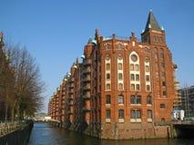 Warehouse in Hamburg Royalty Free Stock Photo