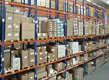 Warehouse with high bay Royalty Free Stock Photography