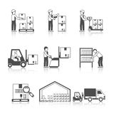 Warehouse Icon Black Stock Photography