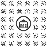 warehouse icon isolated on background. royalty free illustration