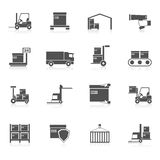 Warehouse Icons Black Stock Photos