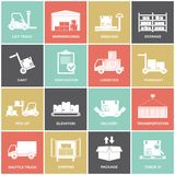 Warehouse icons flat Royalty Free Stock Photo