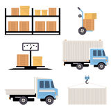 Warehouse Icons Flat Stock Photo