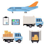 Warehouse Icons Flat Stock Photography
