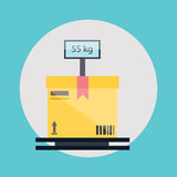 Warehouse icons logistic blank and transportation Stock Photos