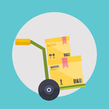 Warehouse icons logistic blank and transportation Royalty Free Stock Images