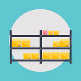 Warehouse icons logistic blank and transportation Royalty Free Stock Image