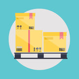 Warehouse icons logistic blank and transportation Royalty Free Stock Photography