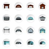 Warehouse icons set, flat style. Warehouse icons set. Flat illustration of 16 warehouse vector icons for web Vector Illustration