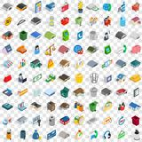 100 warehouse icons set, isometric 3d style Stock Photos