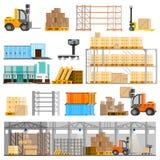 Warehouse Icons Set Royalty Free Stock Image