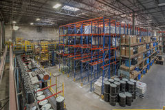 Warehouse. Indoor warehouse in manufacturing plant Stock Photos