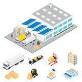 Warehouse Industrial Area Isometric Stock Photos