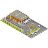 Warehouse Industrial area with seating for loading Royalty Free Stock Photo