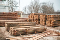 Warehouse industrial wood Stock Photography