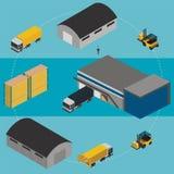 Warehouse infographic illustration. Stock Photo