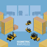 Warehouse infographic illustration. Isometric Warehouse logistic process. Vector infographics illustration royalty free illustration