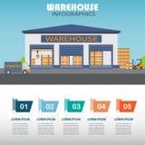 Warehouse infographics Stock Photos