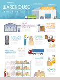 Warehouse Infographics Set Royalty Free Stock Images