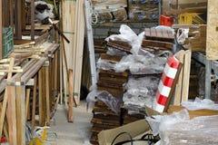 Warehouse, Interior. Interior shot of a messy warehouse Stock Photography