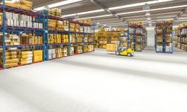 Warehouse interior 3d royalty free stock photography