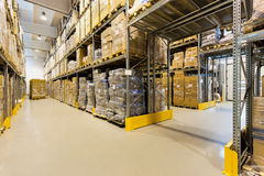 Warehouse interior Royalty Free Stock Photography
