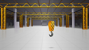 Warehouse Interior Realistic Design. With hook and loading equipment symbols  vector illustration Royalty Free Stock Photos