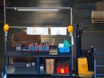 Warehouse Interior - workbench Royalty Free Stock Photos