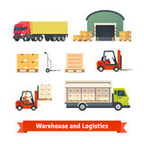 Warehouse inventory, logistics truck Stock Photography