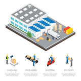 Warehouse Isometric Colored Composition Stock Photos