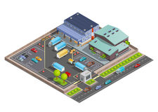 Warehouse Isometric Composition Royalty Free Stock Image