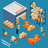 Warehouse Isometric Icons Concept Stock Photography