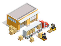 Warehouse Isometric Template Royalty Free Stock Photo