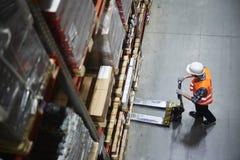 Free Warehouse Loader At Work Royalty Free Stock Photos - 96809278