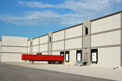 Warehouse loading dock Stock Photo