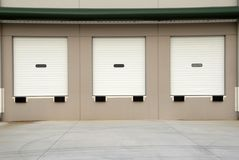 Warehouse Loading Dock. Loading dock of a new commercial warehouse building stock photo