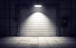 Warehouse loading dock inside. 3D rendering Royalty Free Stock Photo
