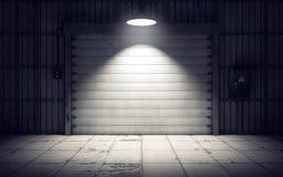 Warehouse loading dock inside. 3D rendering Royalty Free Stock Photo