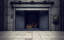 Warehouse loading dock inside Stock Images