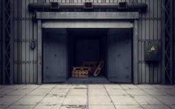 Warehouse loading dock inside. Old warehouse loading dock inside Stock Images
