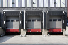 Warehouse loading dock Royalty Free Stock Images