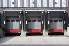 Warehouse loading dock Royalty Free Stock Images
