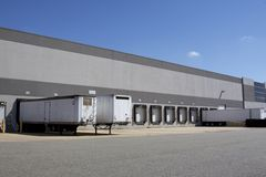 Warehouse loading docks Royalty Free Stock Photography