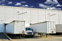 Warehouse Loading Docks Royalty Free Stock Images