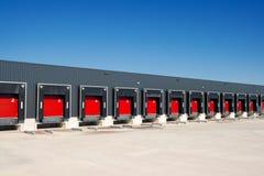Warehouse loading docks Royalty Free Stock Image