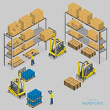 Warehouse loading isometric vector illustration. Stock Photos